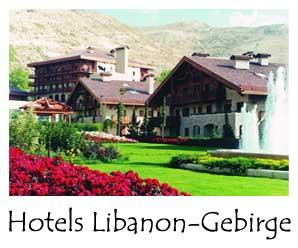 Hotel im Libanon-Gebirge